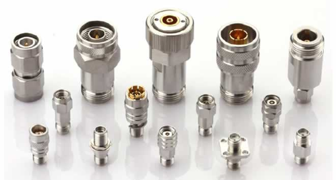 RF coaxial adapters up to 65 Ghz SMA, 2.92mm, 2.4mm, 1.85mm, N, TNC,APC-7