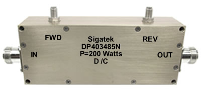DP403485N Dual Coupler 40 db Power 200 Watt 0.1-250 Mhz