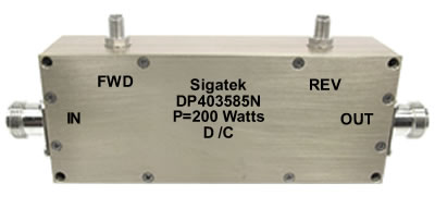 DP403585N Dual Coupler 40 db Power 200 Watt 0.1-500 Mhz