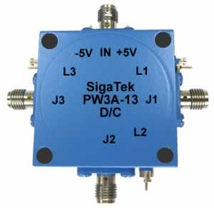 PW3A-13 Pin Diode Switch SP3T Absorptive 0.5-12.4 Ghz