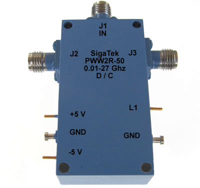 PWW2R-50 Pin Diode Switch SPDT Reflective 0.01-27.0 Ghz
