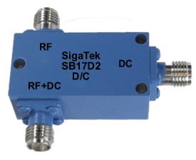 SB17D2 Bias Tee High Current 5 Mhz-12.4 Ghz