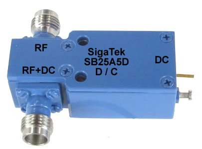 Microwave High Frequency Bias Tee,30 Khz-80 Ghz, SMA, DC-pin In Stock Outline-A5D
