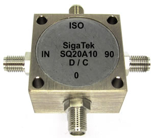 Quadrature hybrid coupler 3 db 90 degree 1-600 Mhz SMA